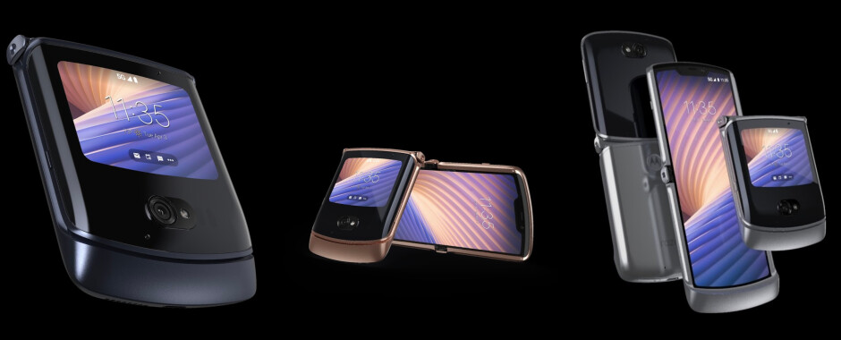 The Moto Razr 5G in Polished Graphite, Blush Gold, and Liquid Mercury - The new Motorola Razr 5G is official: updated design & better battery for $1399