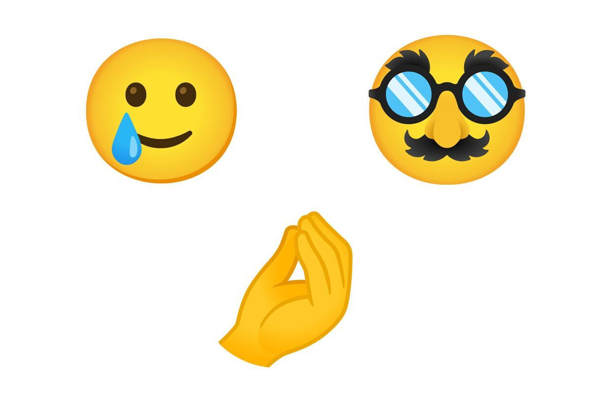 The new Android 11 Smiling Face with Tear, Disguised Face and Pinched Fingers expressions - These are all the new Android 11 emoji coming to your phone
