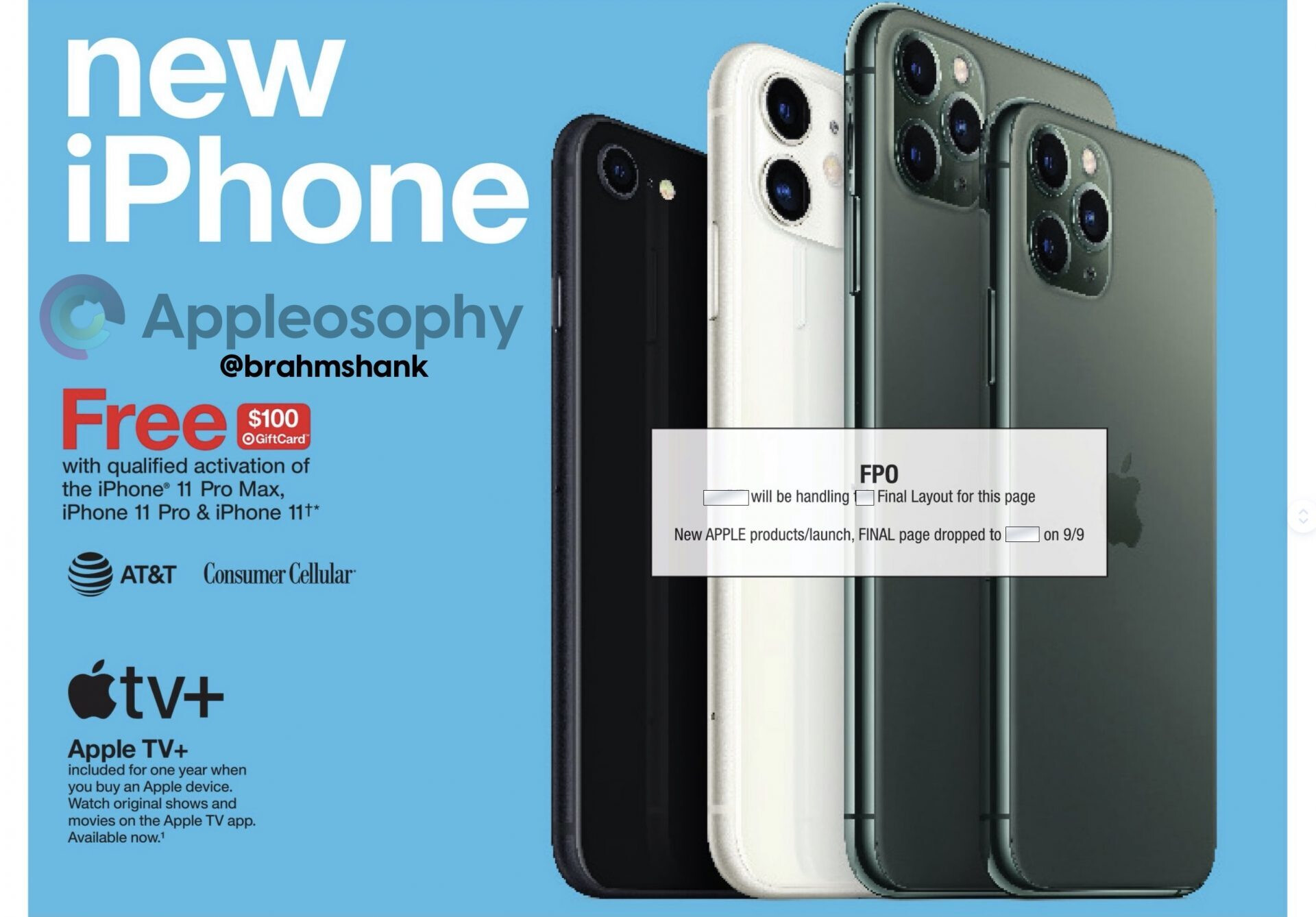 Target's allegedplaceholder draft for the iPhone 12 - Leaked Target ad and Apple's YouTube channel might hold clues to iPhone 12 launch plans
