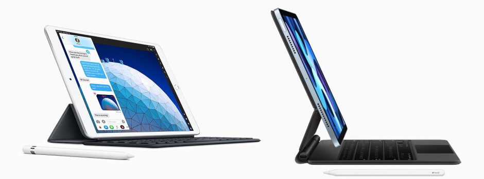 The iPad Air 4 (right) supports Apple's Magic Keyboard and Apple Pencil 2 - Apple iPad Air 4 vs iPad Air 3: Should you upgrade?