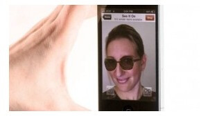 Using Augmented  Reality, you can try on sunglasses (L) or an outfit (R) before you bid for it