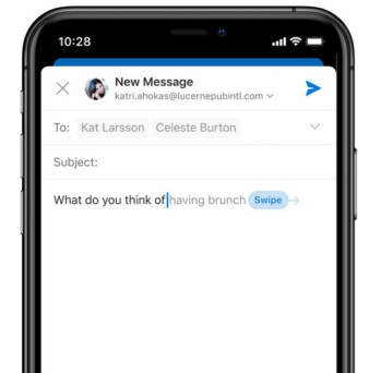 The iOS and Android Outlook apps will be getting Text Prediction - These changes being added to Microsoft's Outlook greatly improve the app