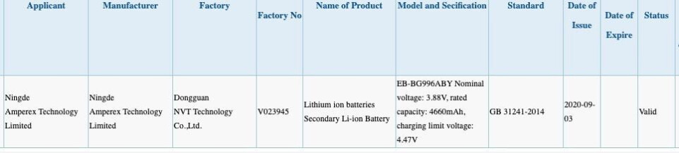 Promising Galaxy S21+ battery picture and specs benchmark leak