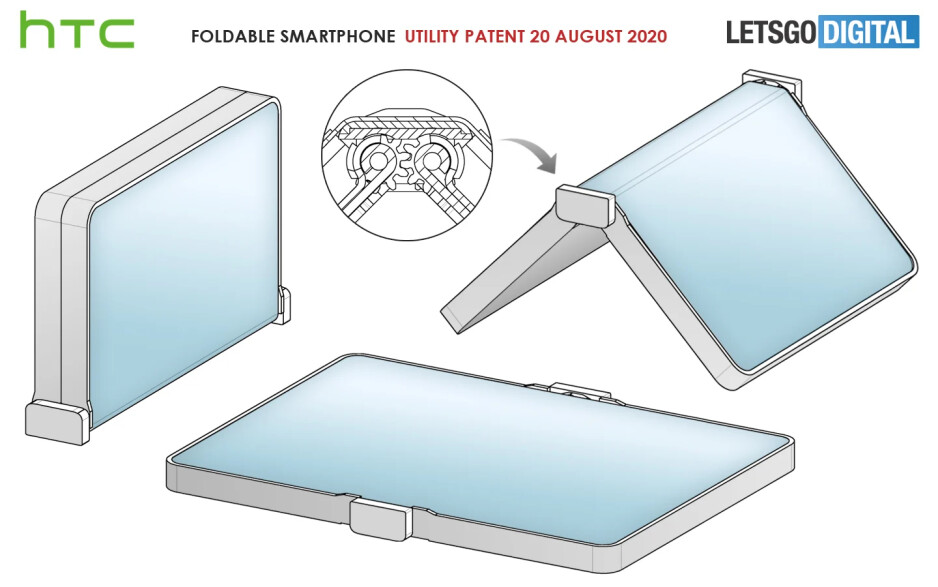 HTC patent drawings - HTC's foldable smartphone is awkward rather than exciting