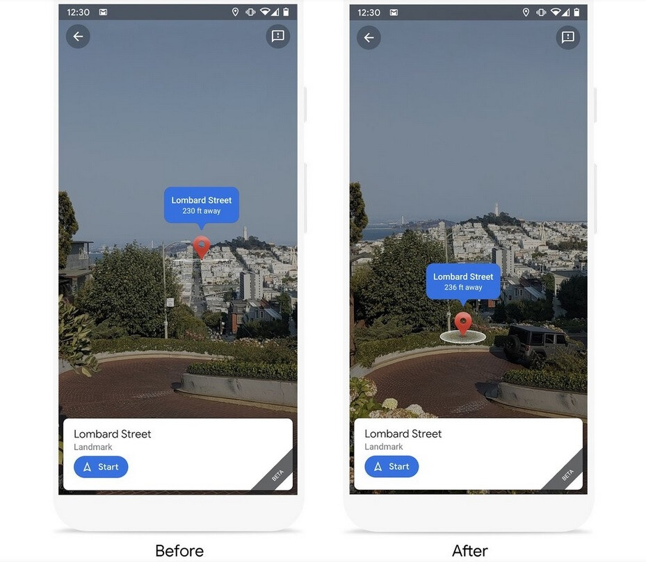 Machine Learning and Live View show a more accurate placement of Google's destination pin - Google Maps' coolest new feature becomes more useful to Android and iOS users