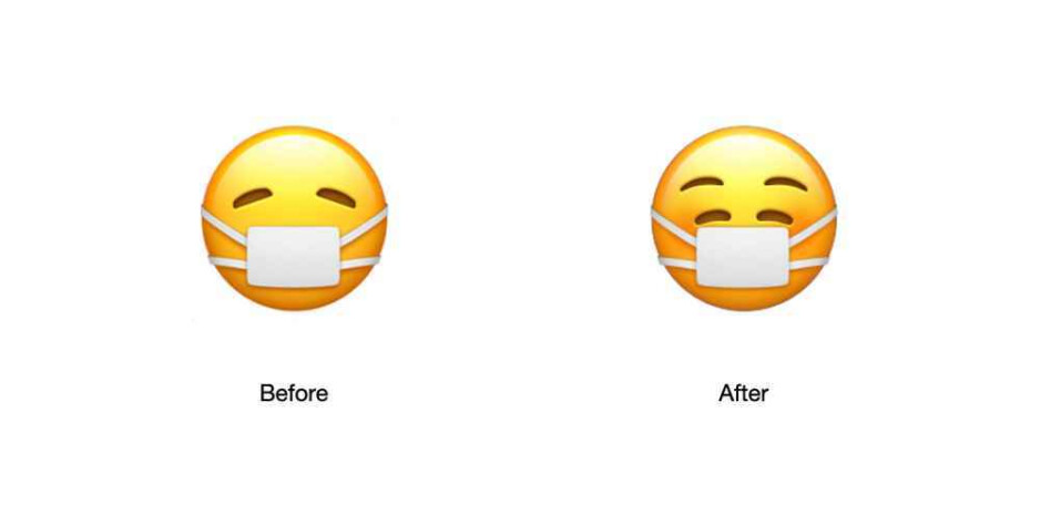 Apple's latest emoji shows you can wear a mask and be happy