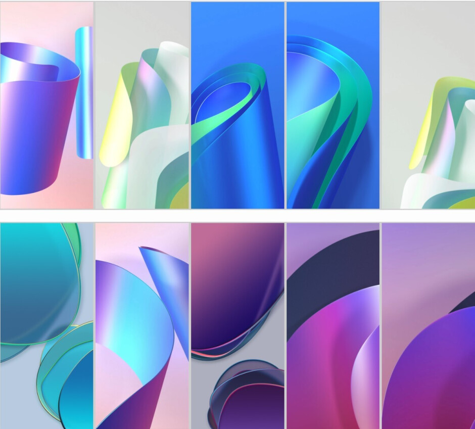 A preview of the possible OnePlus 8T wallpapers - OnePlus 8T stock wallpapers images have been leaked online