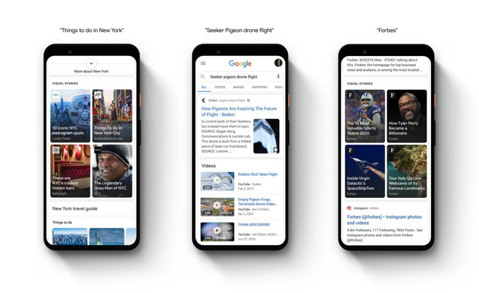 Google Web Stories now available on Discover in the Google Search app