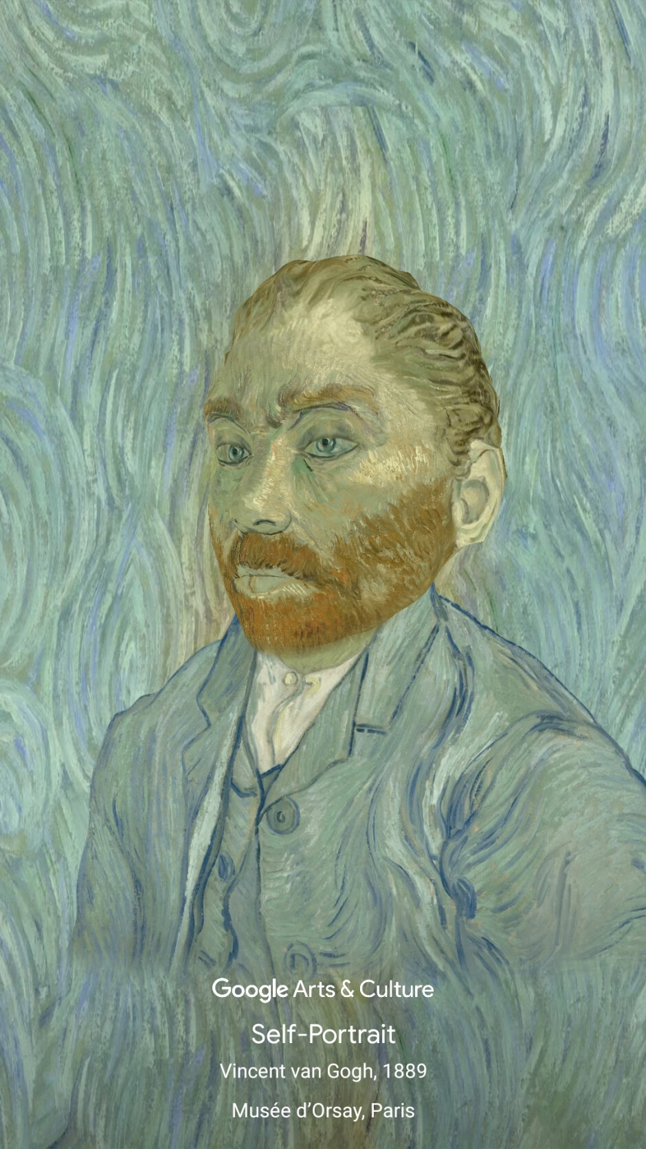 The filter places you into Van Gogh's iconic self-portrait - Have Van Gogh draw your portrait: Google launches Art Filters