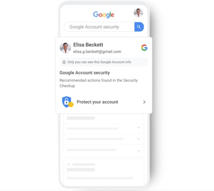 """Google will tell a Google Assistant user when he has a security issue with his Google Account. - Google adds new """"high visibility"""" security alerts"""