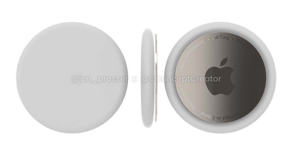 Apple AirTags concept render by Jon Prosser and Concept Creator - Newest AirPods Studio leak hints at $599 price, no announcement Tuesday
