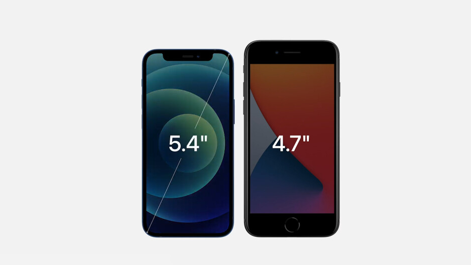 Apple iPhone 12 mini vs iPhone SE size comparison - The Apple iPhone 12 mini lands the smallest price, 5G, and a late release date