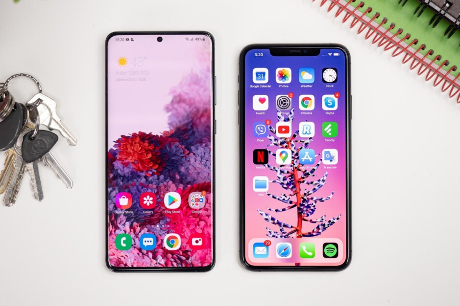 The Galaxy S20 Ultra (left) and iPhone 11 Pro Max (right) could be two of the best devices discounted on Black Friday - Walmart's Black Friday deals will start sooner and last longer than you think