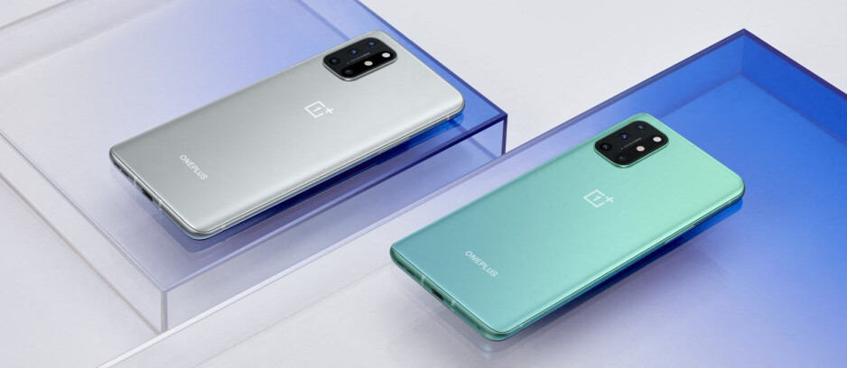 OnePlus 8T comes in two colors, Lunar Silver (left) and Aquamarine Green (right) - The OnePlus 8T arrives with two batteries, a 120Hz flat display, and 65W fast charging