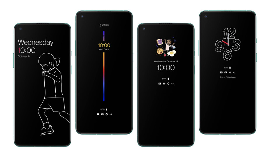 New Always-on Display (AOD) visualizations on OP8T - The OnePlus 8T arrives with two batteries, a 120Hz flat display, and 65W fast charging