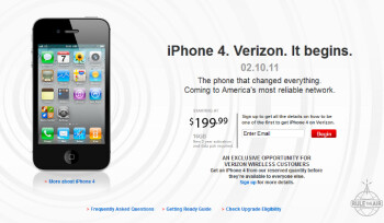 Apple iPhone 4 is coming to Verizon Wireless on February 10