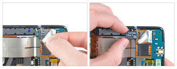 Teardown of the HTC Surround reveals a microSD card slot.