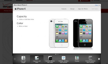 White iPhone 4 makes an appearance on Verizon's product page