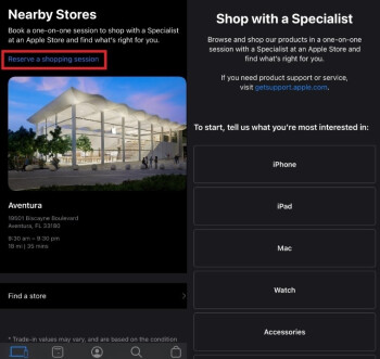 he Apple Store app will help you reserve a shopping session inside an Apple Store