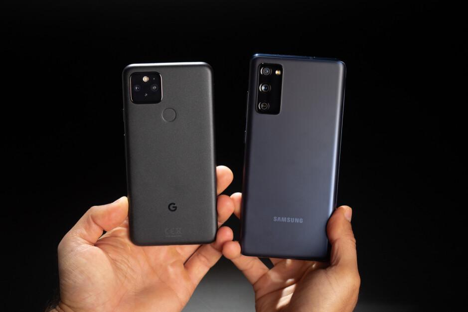 Google Pixel 5 vs Samsung Galaxy S20 FE
