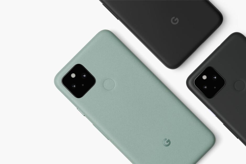 Sage and Black Pixel 5 - Google Pixel 5 and Samsung Galaxy S20 FE colors - Google Pixel 5 vs Samsung Galaxy S20 FE