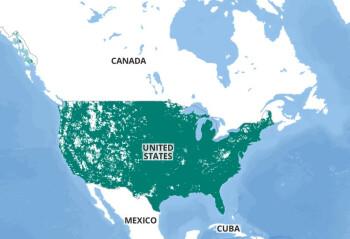 Peta cakupan Bluegrass Cellular - Transaksi baru Verizon memperluas keunggulannya atas T-Mobile