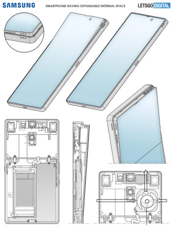 Samsung patent reveals an innovative Galaxy S phone with a flexible screen and powerful sound