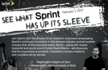 """Sprint is holding an event on February 7th to announce """"yet another industry first"""""""