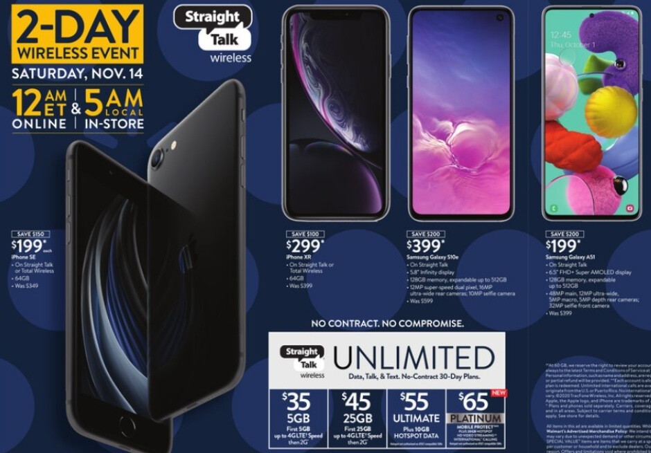 Check out some of the best Walmart Black Friday deals coming up on iPhones, Samsung devices, and much more