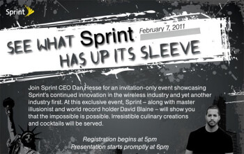 "What would Sprint's ""industry first"" be?"