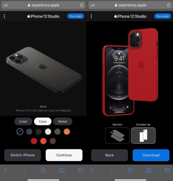 Take a look at what your iPhone 12 series phone will look like when customizing MagSafe accessories for it - Apple iPhone 12 Studio helps you pick the MagSafe accessory you want for your 5G handset