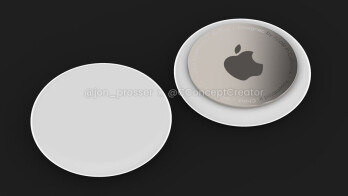 "Render of Apple AirTags - Apple's latest iOS developer preview ""confirms"" that AirTags are real and on the way"