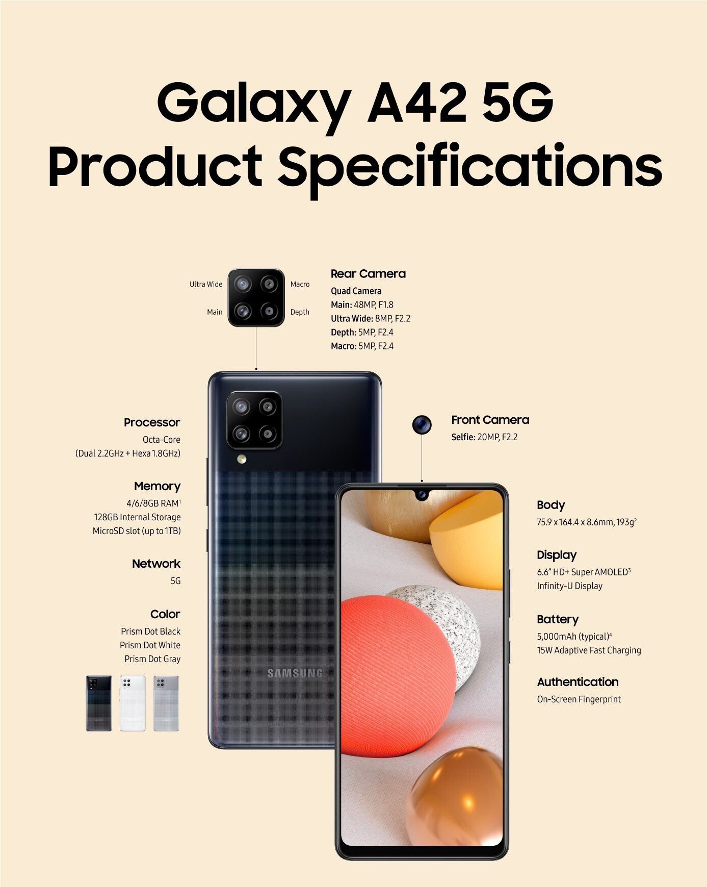 Samsung Galaxy A42 5G Specifications - We finally know everything about Samsung's cheapest 5G smartphone, just in time for its release