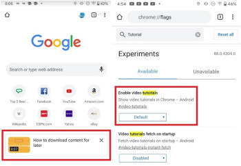 Google is testing the inclusion of video tutorials with the Chrome for Android app - Google tests new video feature for its mobile browser