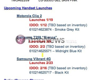 Leak points to February 23rd as being the launch date for the Samsung Vibrant 4G