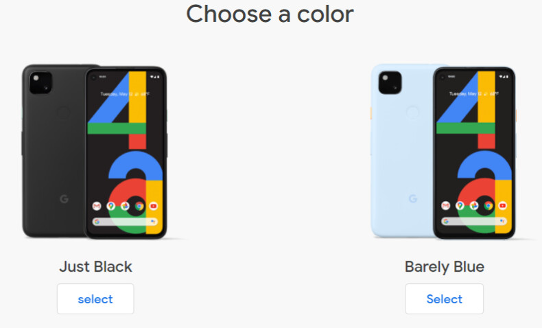 The Barely Blue model is only available unlocked - Google Pixel 4a no longer comes in just one solemn color
