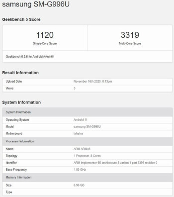 Geekbench test allegedly shows the Snapdragon 875 outscoring the Exynos 2100 - U.S. buyers of the 5G Galaxy S21+ could end up happier than buyers in most other countries