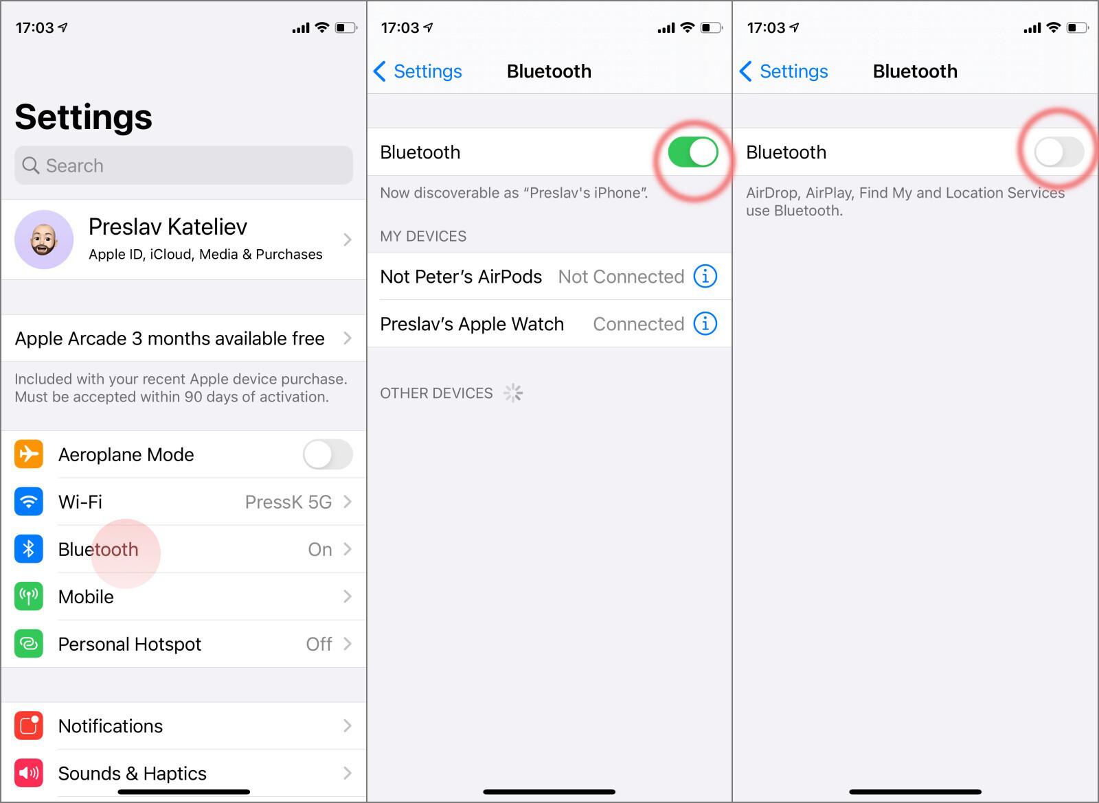 Cách tiết kiệm pin trên iPhone 12 Tắt Bluetooth