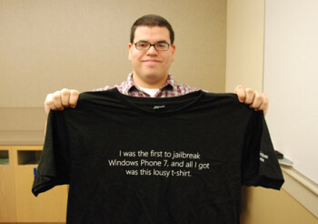 """Jailbreaking Windows Phone 7 gets you a """"lousy T-shirt"""""""