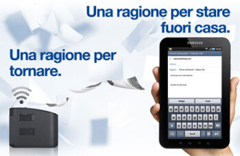 Samsung is giving away a free wireless printer to Italian customers buying the Galaxy Tab