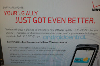 Verizon is telling LG Ally owners that their handset will get better with Android 2.2, but will the upgrade allow for Adobe Flash support?