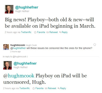 iPad getting naughty with an uncensored Playboy app