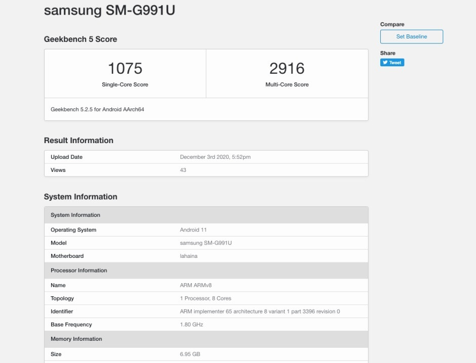New Galaxy S21 5G benchmark - Samsung Galaxy S21 5G with Snapdragon 888 posts underwhelming benchmark scores