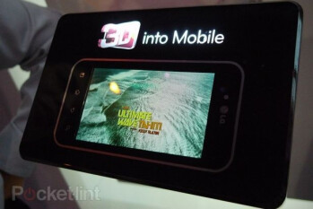 4.3-inch 3D display from LG shown at CES.