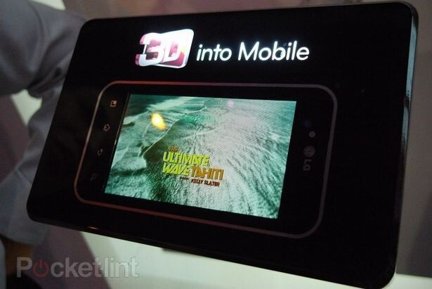 4.3-inch 3D display from LG shown at CES. - 3D display and recording functionality on board with LG's T-Mobile G-Slate?