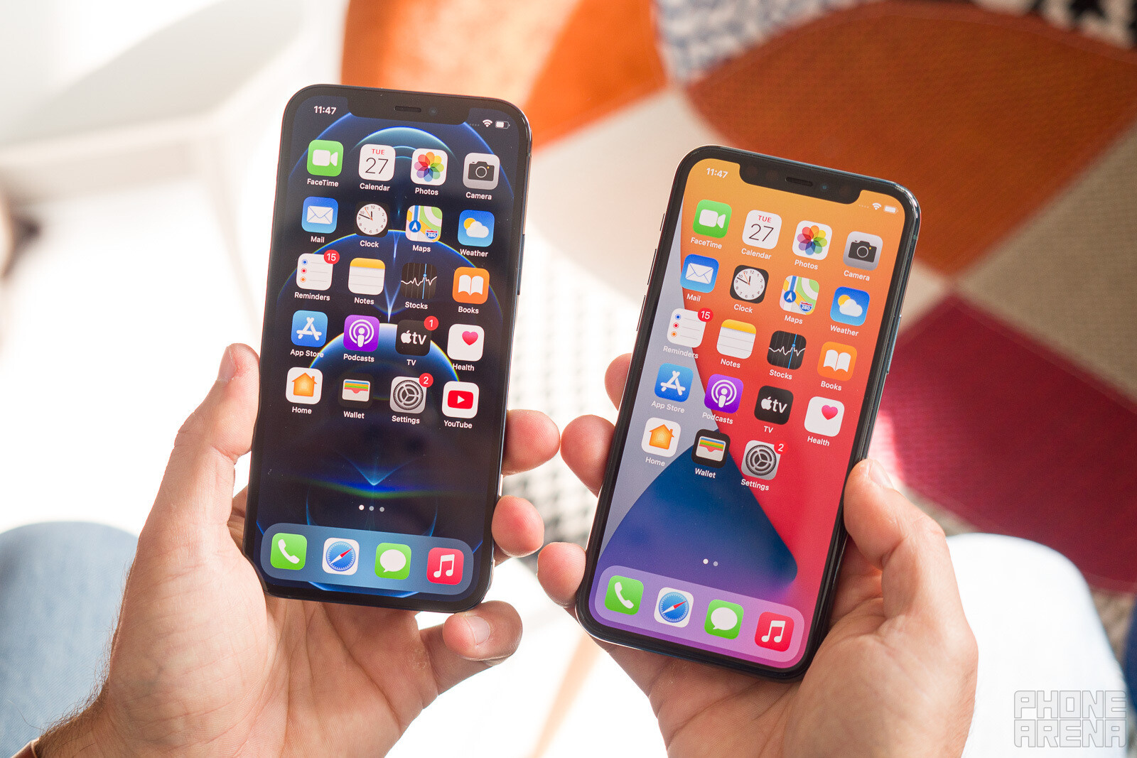 iPhone 12 Pro left, iPhone 11 Pro right - Why you should reconsider buying an iPhone 12