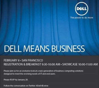 Dell's event is slated for February 8th in San Francisco.
