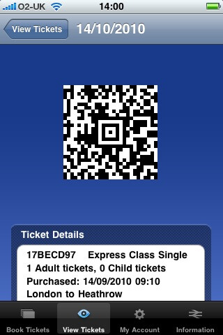 Hex offers iPhone ticketing app for Heathrow Express