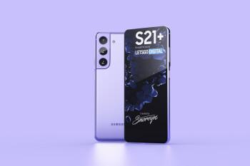 Samsung Galaxy S21+ in Phantom Violet concept render - Newest Samsung Galaxy S21 5G leak details storage options, new S Pen cases