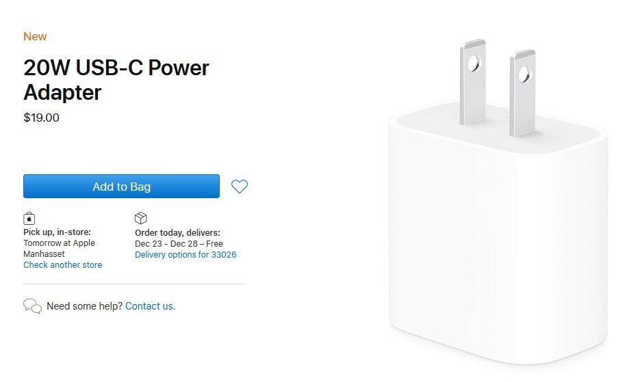 Want the fastest charging for the iPhone 12 line? You'll need to purchase this 20W charger from Apple for $19 - Top analyst has good news about next year's Apple iPhone models